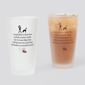 Wine Quote Drinking Glass