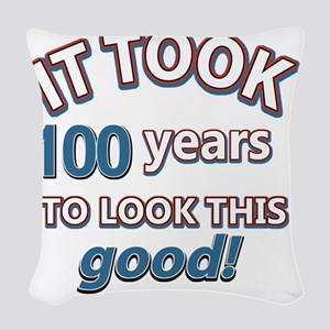 It took 100 years to look this Woven Throw Pillow