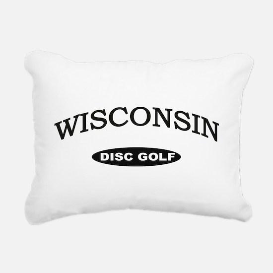 Wisconsin Disc Golf Rectangular Canvas Pillow