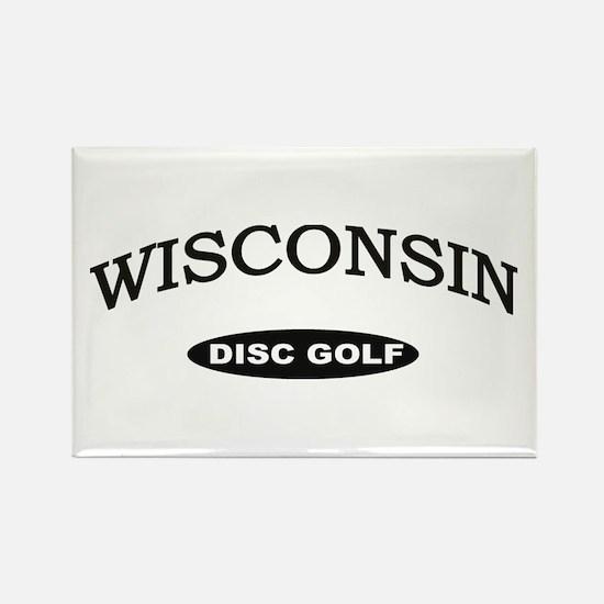 Wisconsin Disc Golf Rectangle Magnet