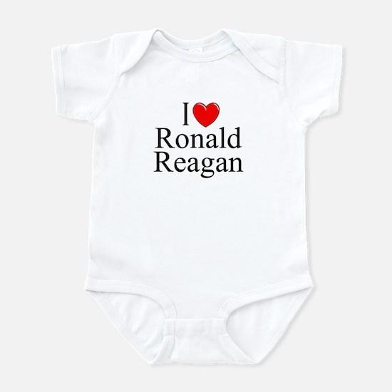 """I Love (Heart) Ronald Reagan"" Infant Bodysuit"