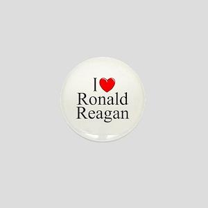 """""""I Love (Heart) Ronald Reagan"""" Mini Button"""
