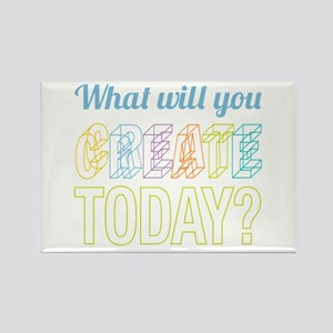 Create Today Rectangle Magnet