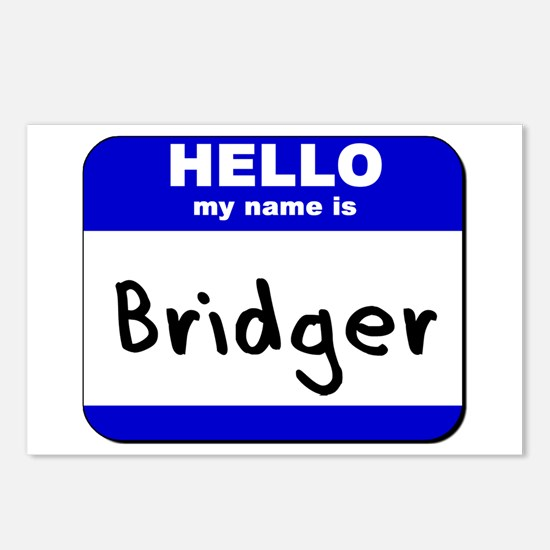 hello my name is bridger  Postcards (Package of 8)