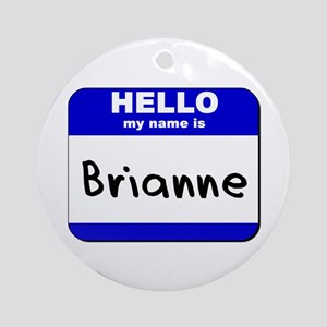 hello my name is brianne  Ornament (Round)