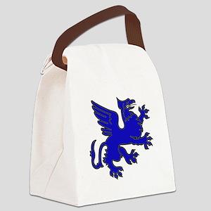 Blue Griffin Canvas Lunch Bag