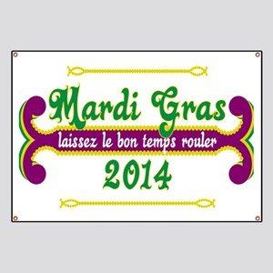 Mardi Gras Let the Good Times Roll Banner