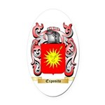 Exposito Oval Car Magnet