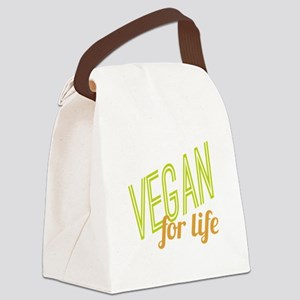 Vegan For Life Canvas Lunch Bag