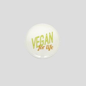 Vegan For Life Mini Button