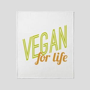 Vegan For Life Throw Blanket