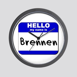 hello my name is brennen  Wall Clock