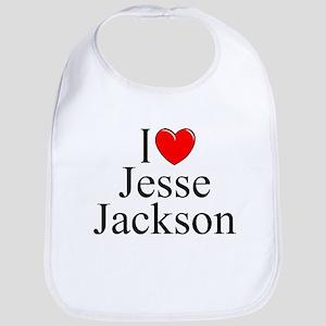"""""""I Love (Heart) Jesse Jackson"""" Bib"""