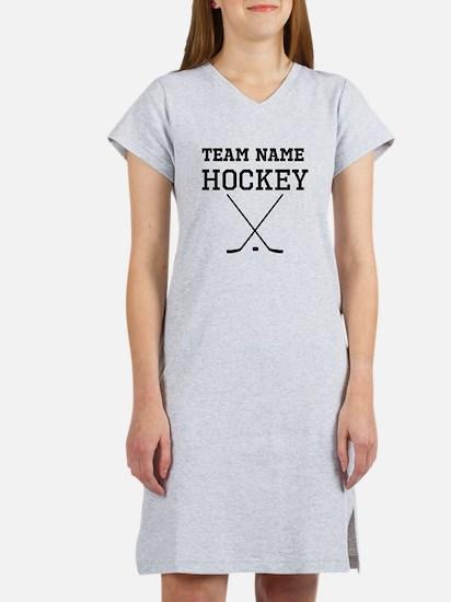 (Team Name) Hockey Women's Nightshirt
