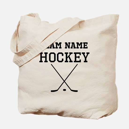 (Team Name) Hockey Tote Bag
