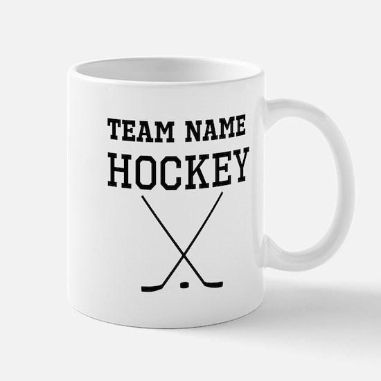(Team Name) Hockey Mugs