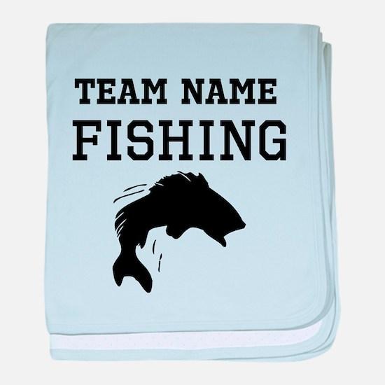 (Team Name) Fishing baby blanket