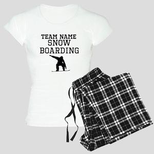 (Team Name) Snowboarding pajamas