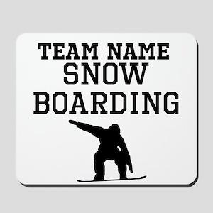 (Team Name) Snowboarding Mousepad