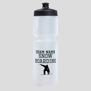 (Team Name) Snowboarding Sports Bottle