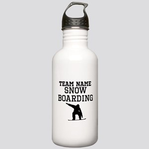 (Team Name) Snowboarding Sports Water Bottle