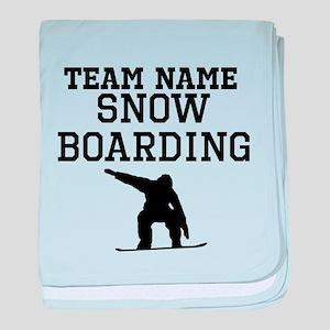 snowboarding baby blankets cafepress