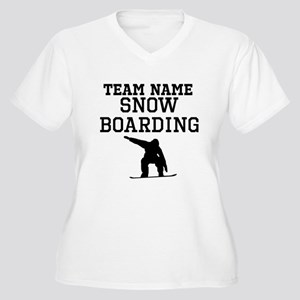 (Team Name) Snowboarding Plus Size T-Shirt