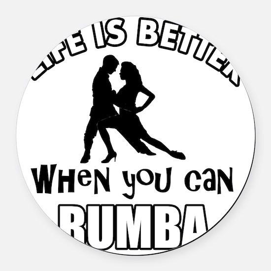 Rumba dancing designs Round Car Magnet