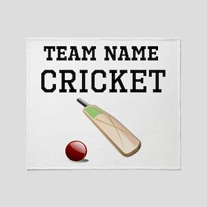 (Team Name) Cricket Throw Blanket