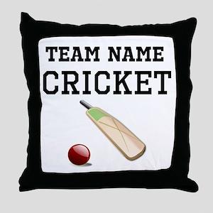 (Team Name) Cricket Throw Pillow