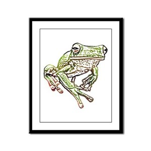 Painted Frog Framed Panel Print