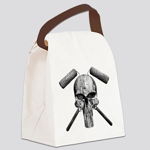 Paint Skull Canvas Lunch Bag