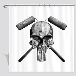 Paint Skull Shower Curtain
