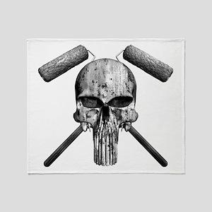 Paint Skull Throw Blanket