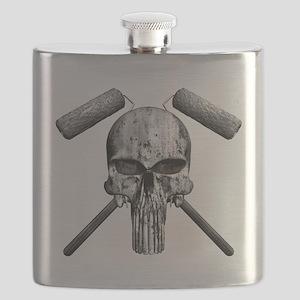 Paint Skull Flask