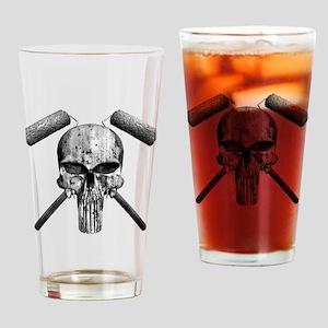 Paint Skull Drinking Glass
