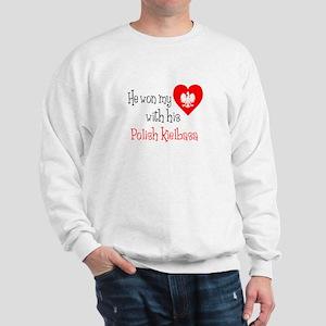 Won My Heart Polish Kielbasa Sweatshirt