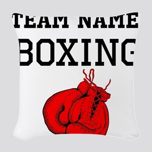 (Team Name) Boxing Woven Throw Pillow