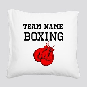 (Team Name) Boxing Square Canvas Pillow