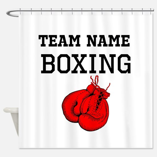(Team Name) Boxing Shower Curtain