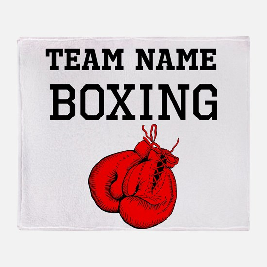 (Team Name) Boxing Throw Blanket