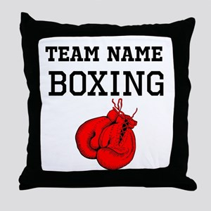 (Team Name) Boxing Throw Pillow