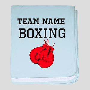(Team Name) Boxing baby blanket