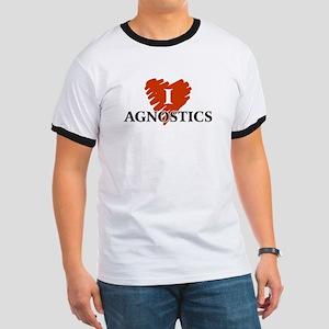 I Love Agnostics T-Shirts Ringer T