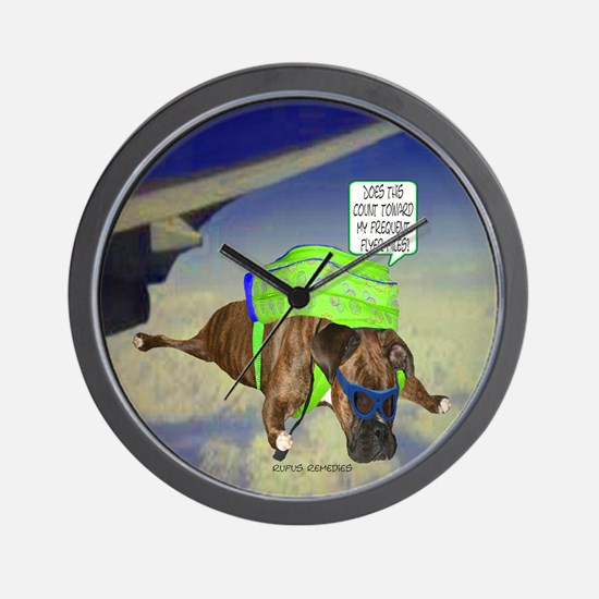 Briendel Boxer Skydiving Wall Clock