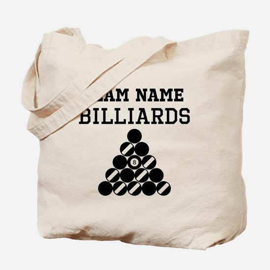 (Team Name) Billiards Tote Bag