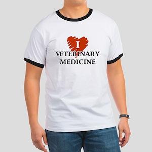 I Love Veterinary Medicine Ringer T