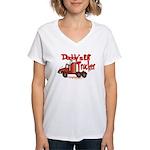 Daddys Lil' Trucker Women's V-Neck T-Shirt