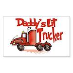 Daddys Lil' Trucker Sticker (Rectangle)