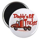 Daddys Lil' Trucker Magnet